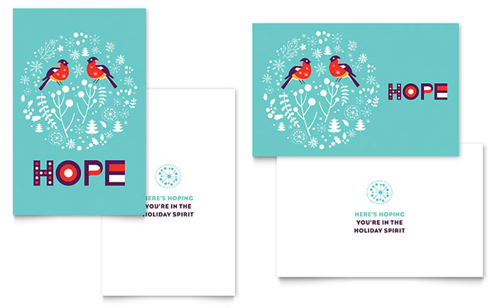 Hope Greeting Card Template Word Amp Publisher