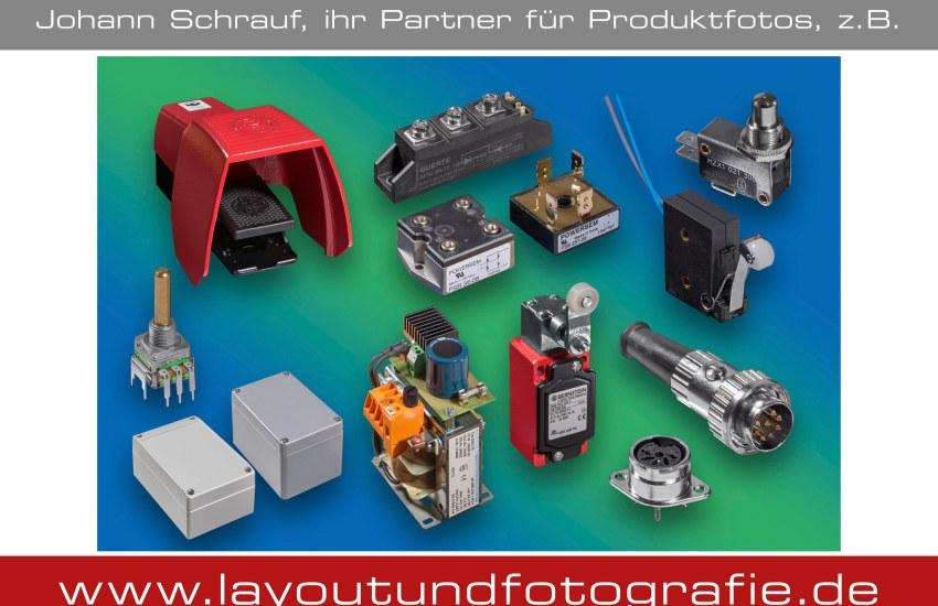 Produktfotografie elektrischer Bauteile