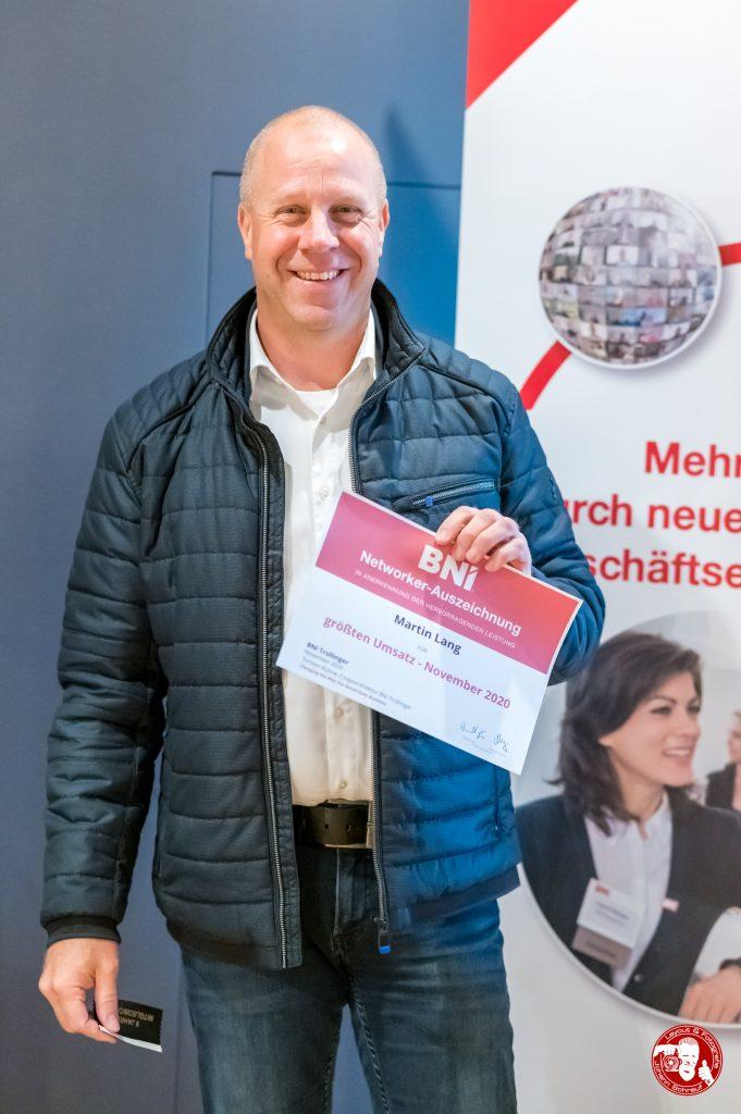 Martin Lang mit Auszeichung im BNI-Chapter Trollinger Heilbronn