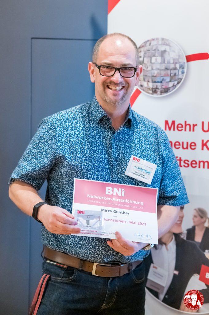 Mirko Günther mit Auszeichung im BNI-Chapter Trollinger Heilbronn