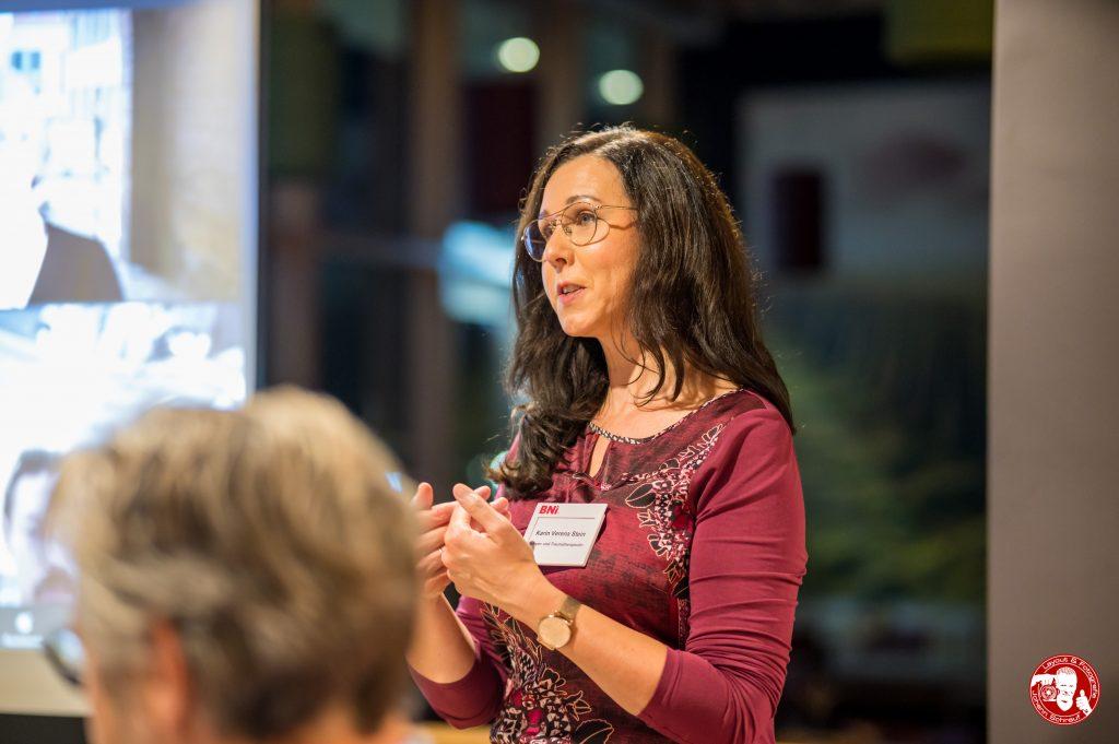 Karin Verena Stein, Körper- und Traumatherapeutin, im BNI-Chapter Trollinger Heilbronn