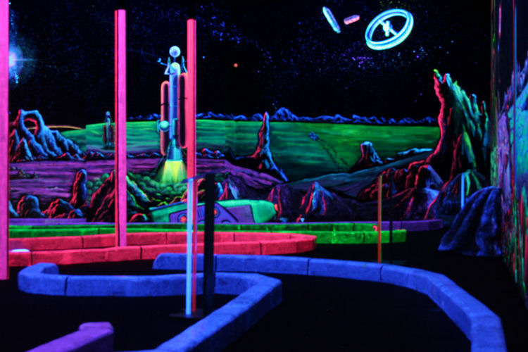 [Blacklight Mini Golf at LazerGate]