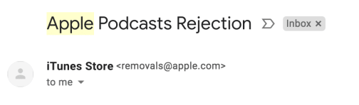 add podcast to blog apple podcasts rejection