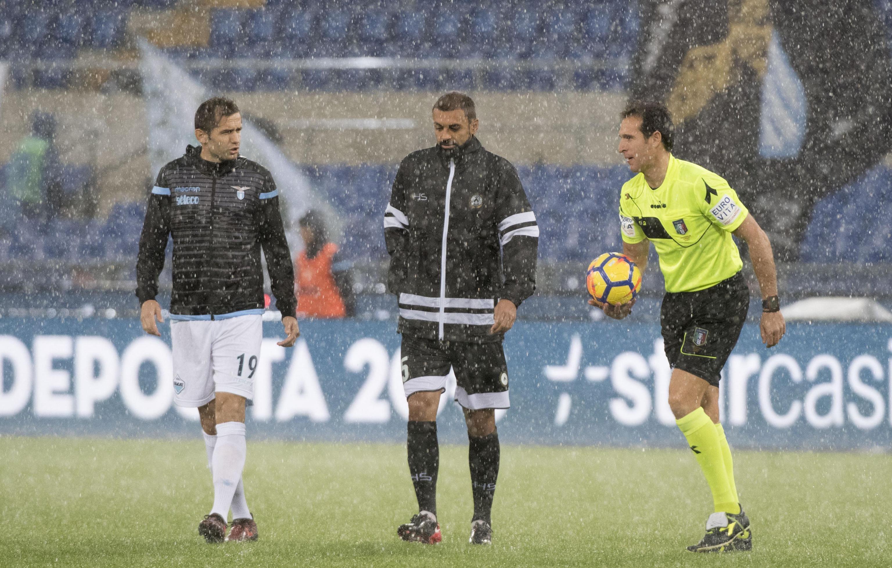 Lazio Udinese, 12 esima giornata, partita rinviata lulic - danilo