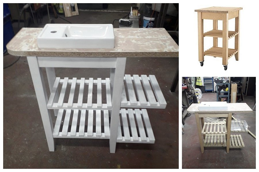 ikea Bekvam kitchen trolley hack before and after