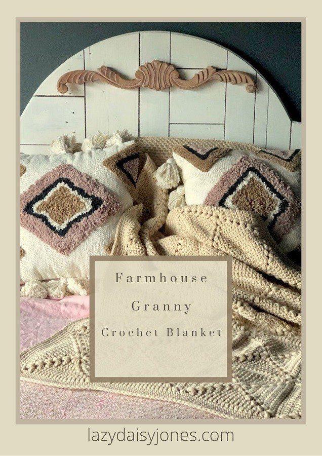 crochet blanket farmhouse granny pattern