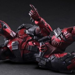 This Play Arts Kai Deadpool left all its guns back in the taxi