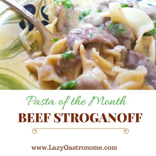 pasta-of-the-month - Stroganoff