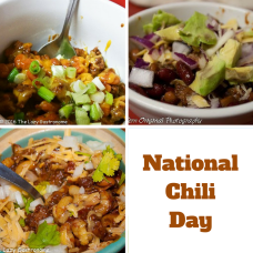 It's National Chili Day!  Here are a few great recipes to try to  celebrate that comfort food that's good for you!  Makes you feel good all over!
