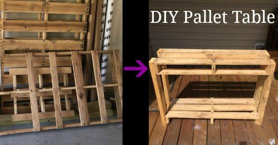 Easy Pallet Garden Table – DIY