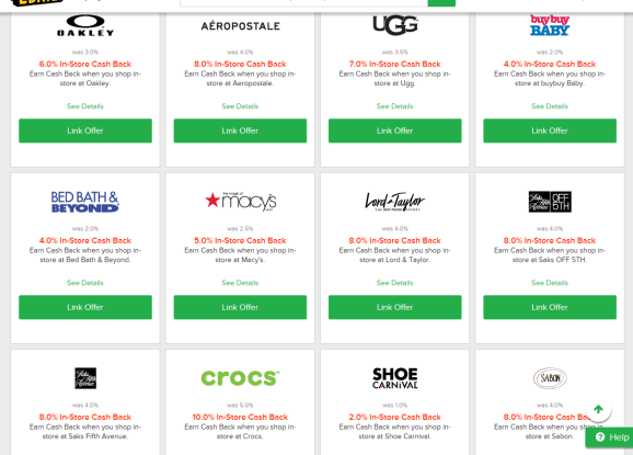 Use Ebates in store to get ash back on your purchases.