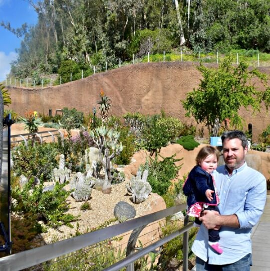 San Diego Zoo with a baby