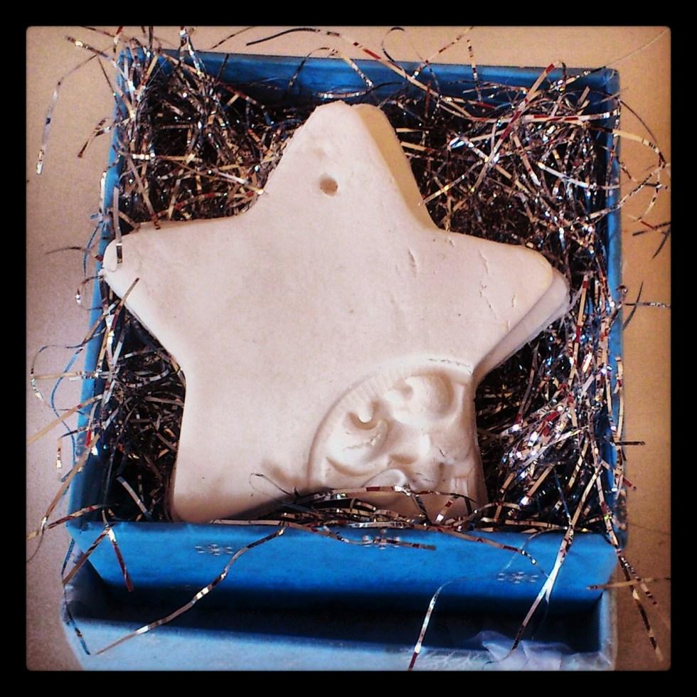 Clay Christmas ornament