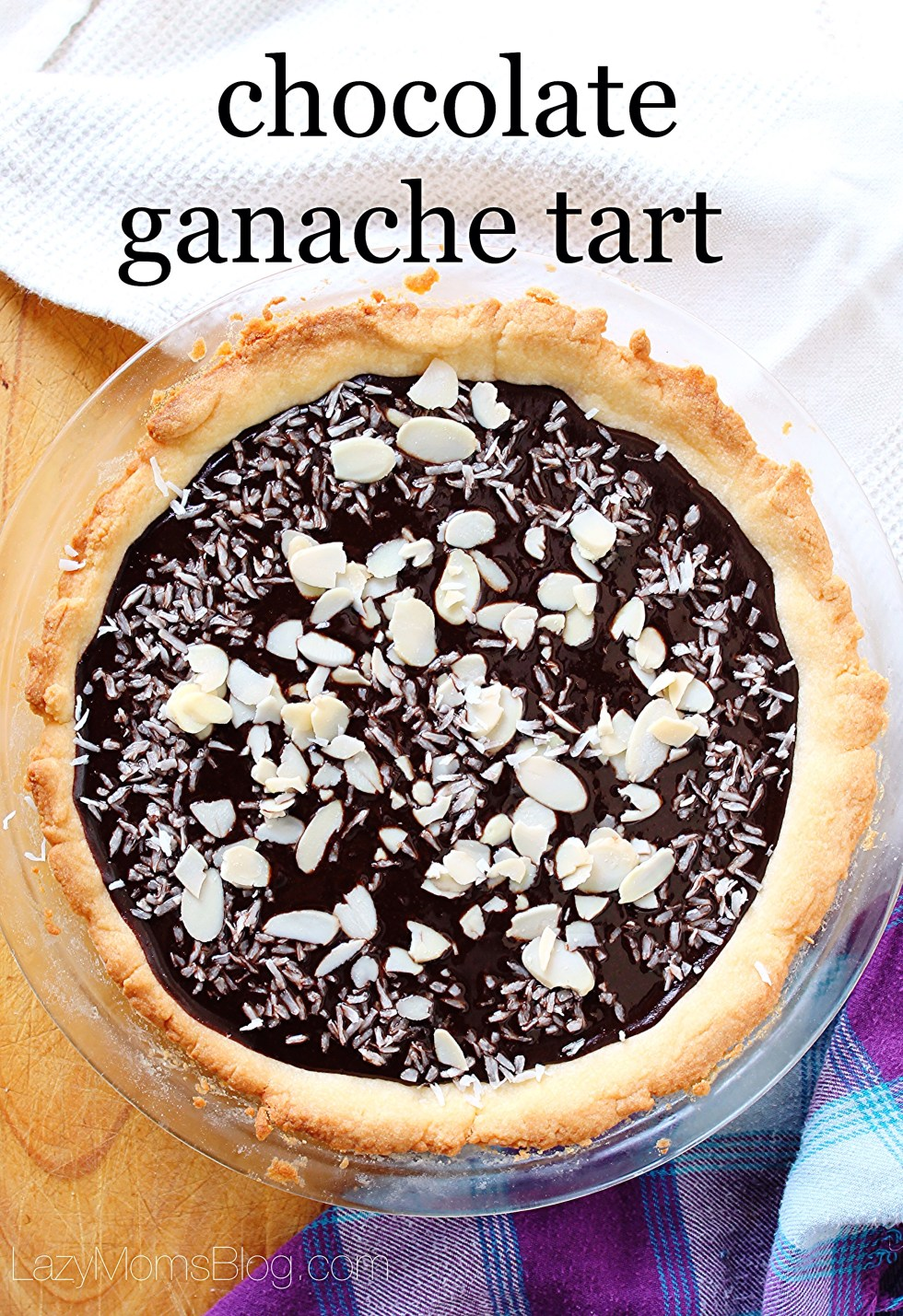 This amazing rich and creamy chocolate ganache tart is so easy to make, and so delicious, it's crazy! #dessert #chocolate