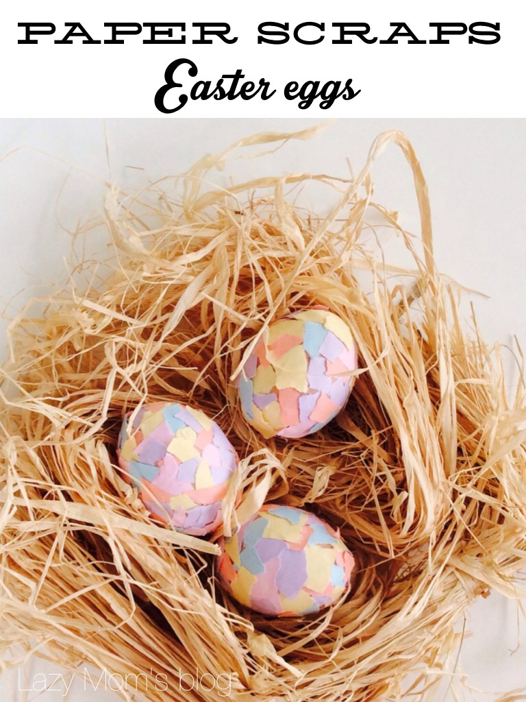 Paper scraps Easter eggs