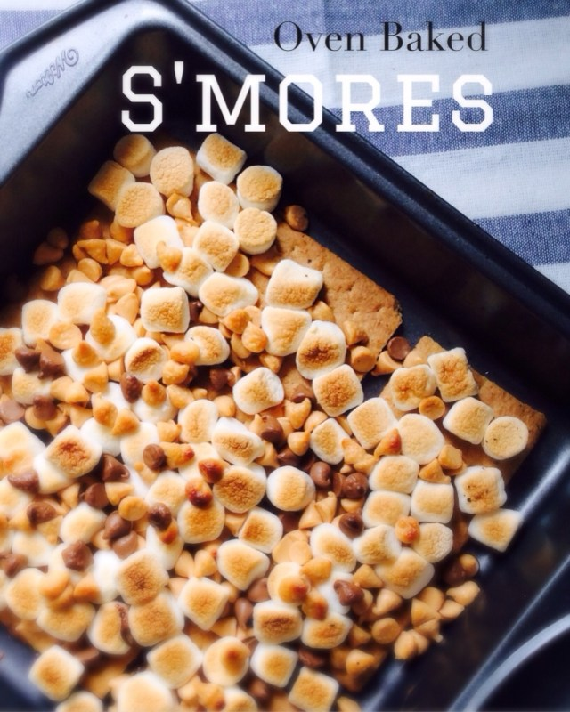 Oven baked s'mores - Lazy Mom's blog
