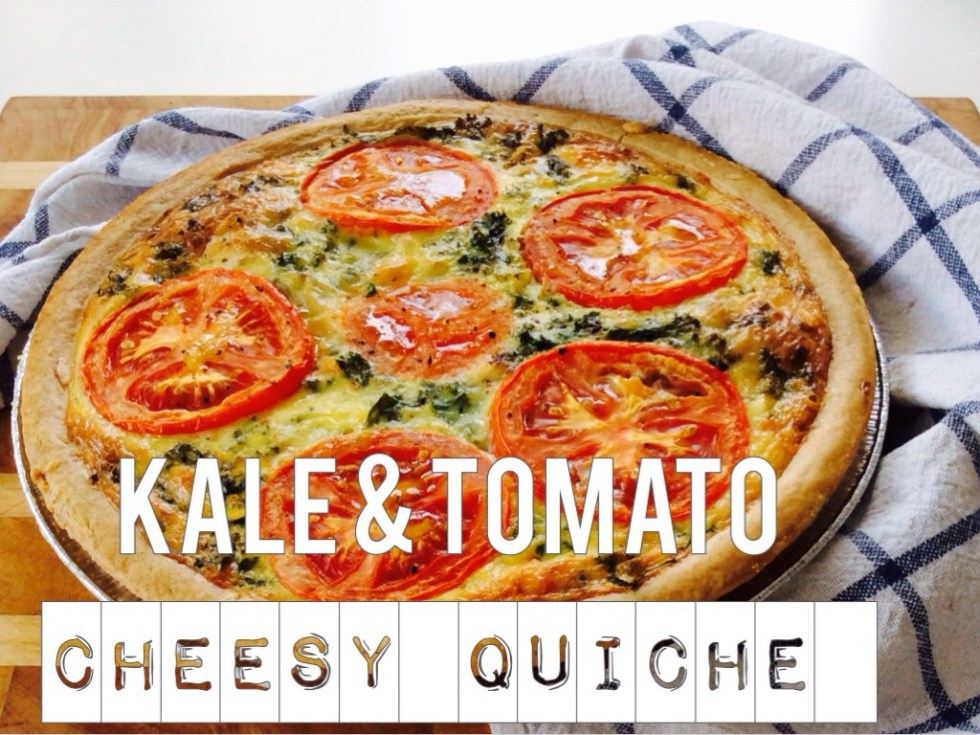Kale & tomato cheesy quiche