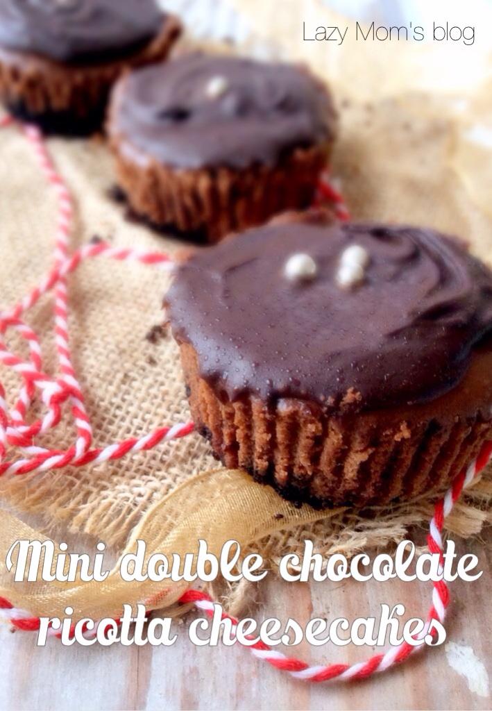 Mini double chocolate  ricotta cheesecakes
