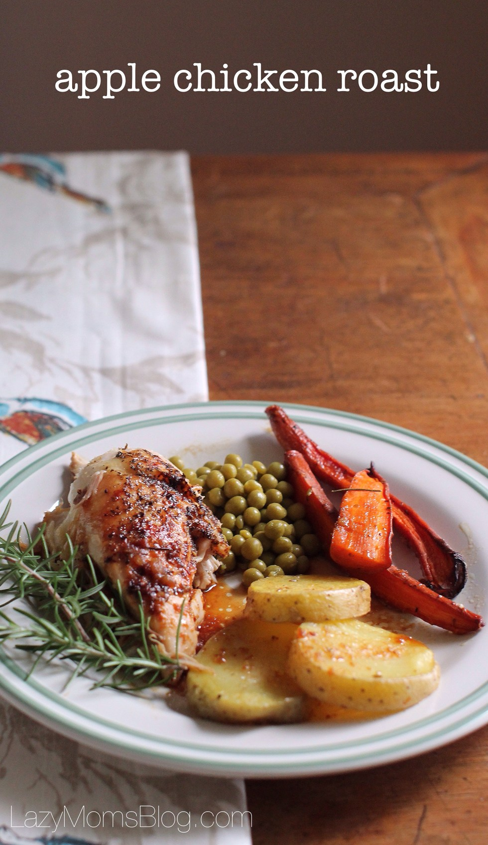 Easy delicious and comforting apple chicken roast