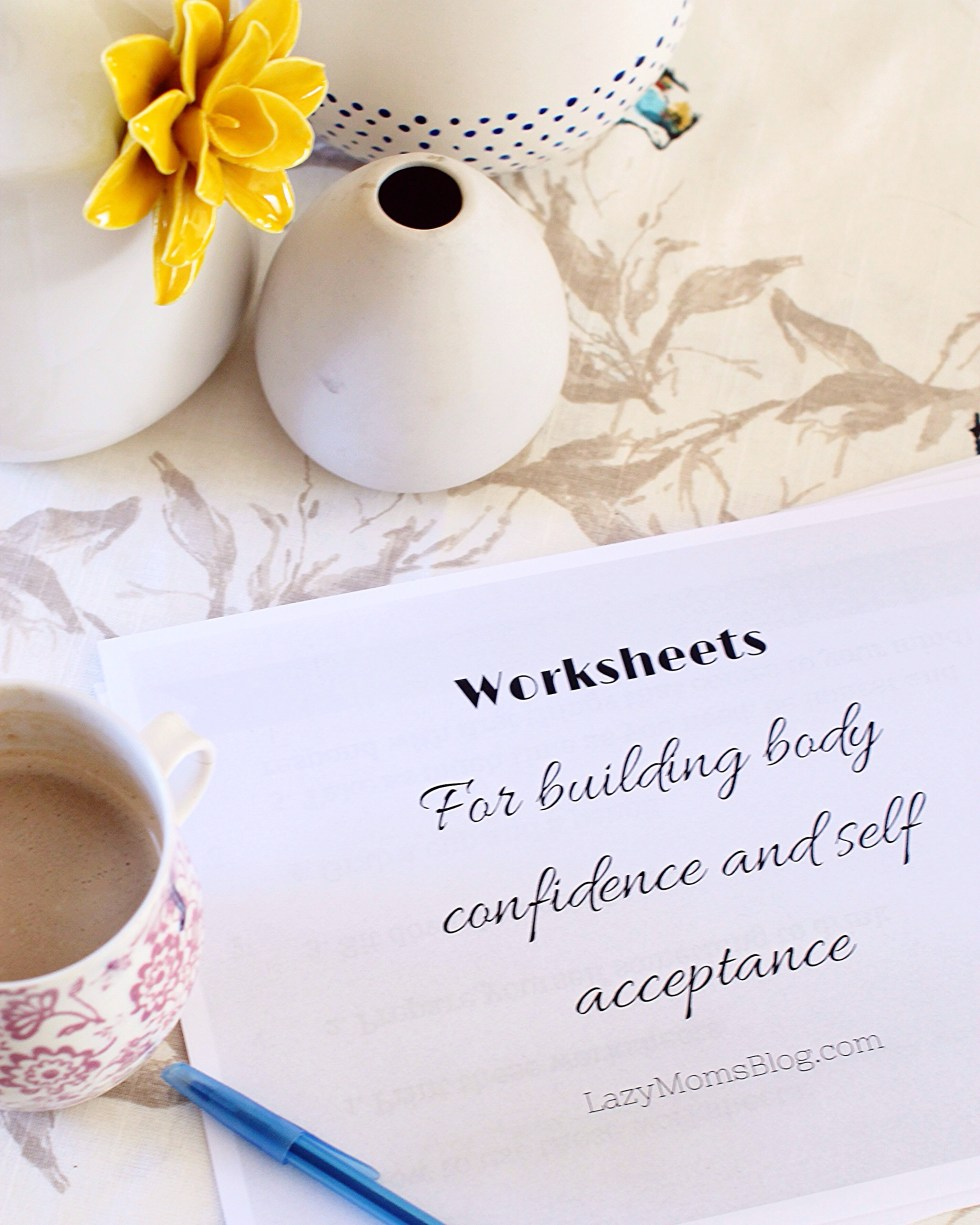 Free worksheets for building body confidence