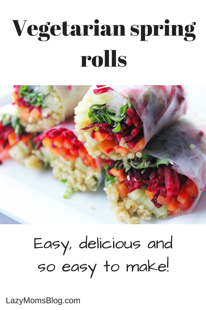 These are, hands down, the best spring rolls I ever had! #vegetarian #healthy
