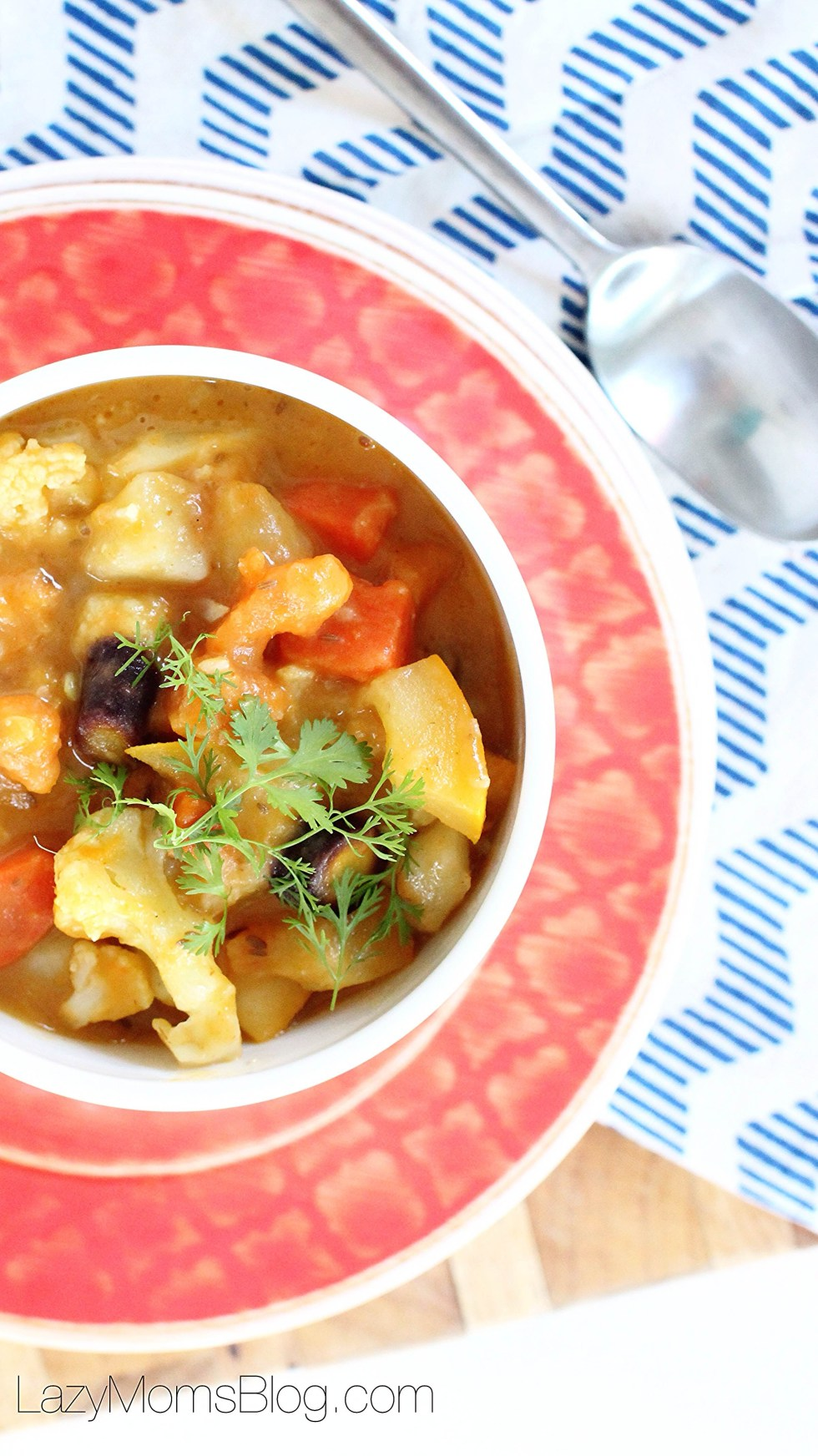 This vegetarian curry is so full of flavor and texture, while being healthy, comforting and so easy to make! Definitely a family favorite!