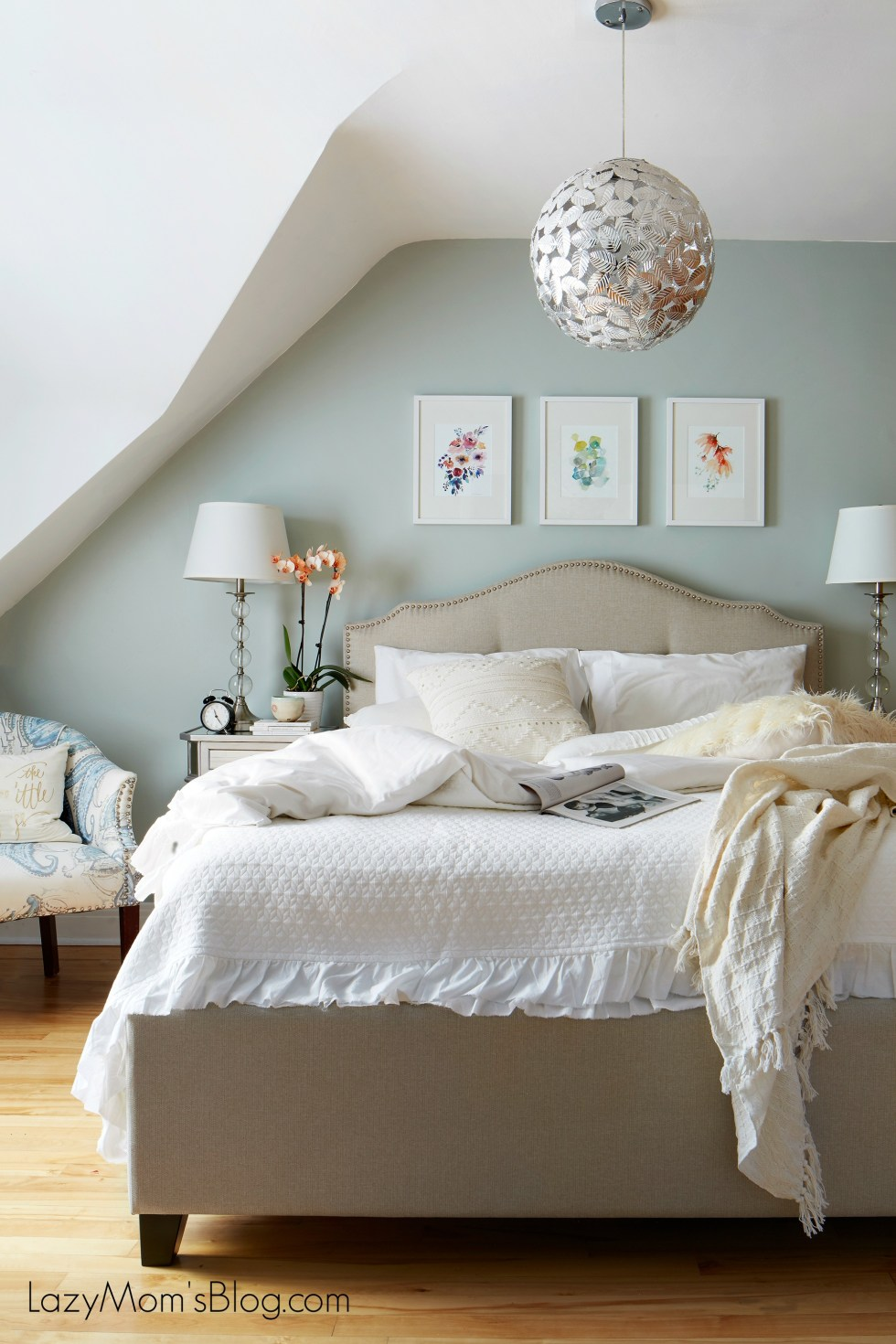 airy calm and bright bedroom