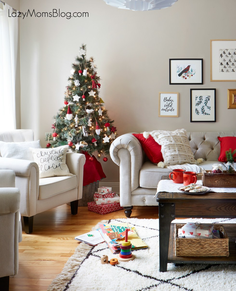 Simple ideas for Christmas living room decoration
