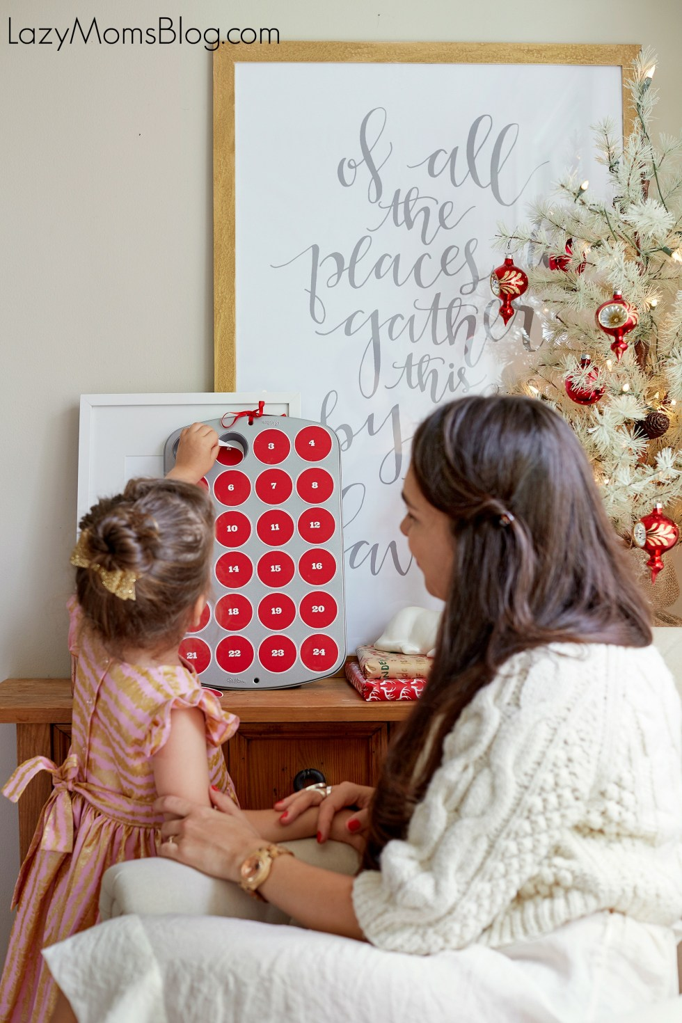 easy DIY advent calendar , and a free printable
