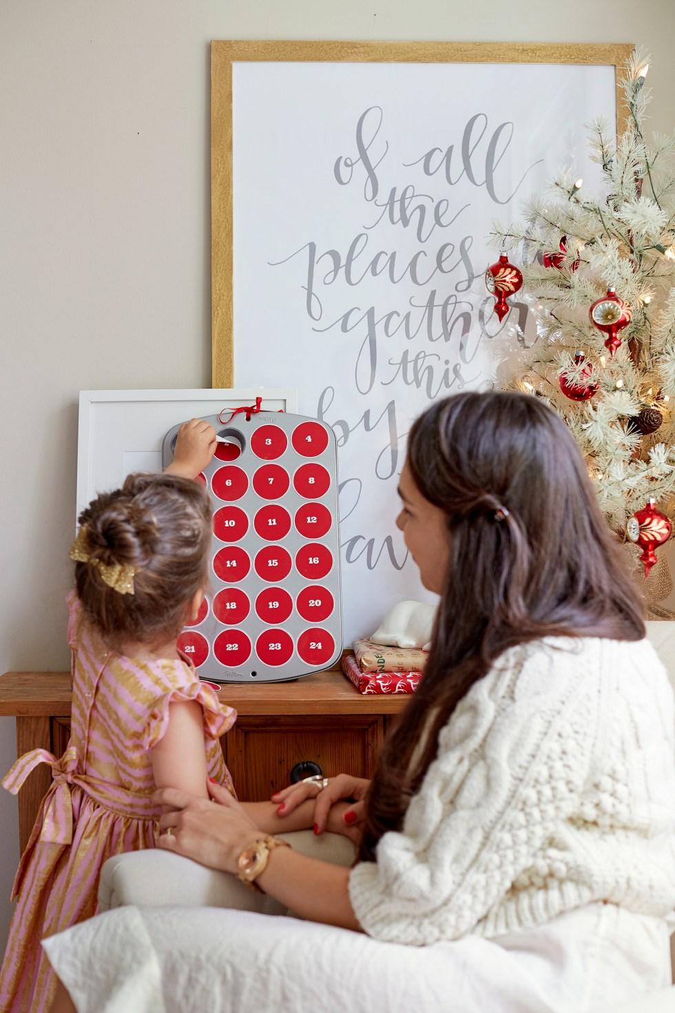 DIY advent calendar with a free printable