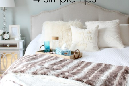 How to transform your bedroom for guests   Lazy Mom s blog