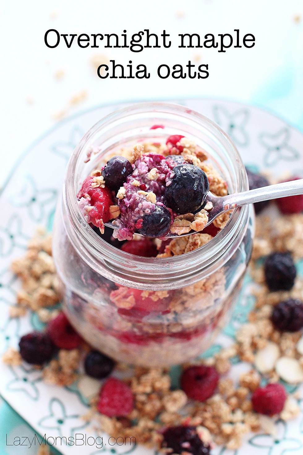 Overnight maple chia oats, simple and healthy breakfast, kids approved!