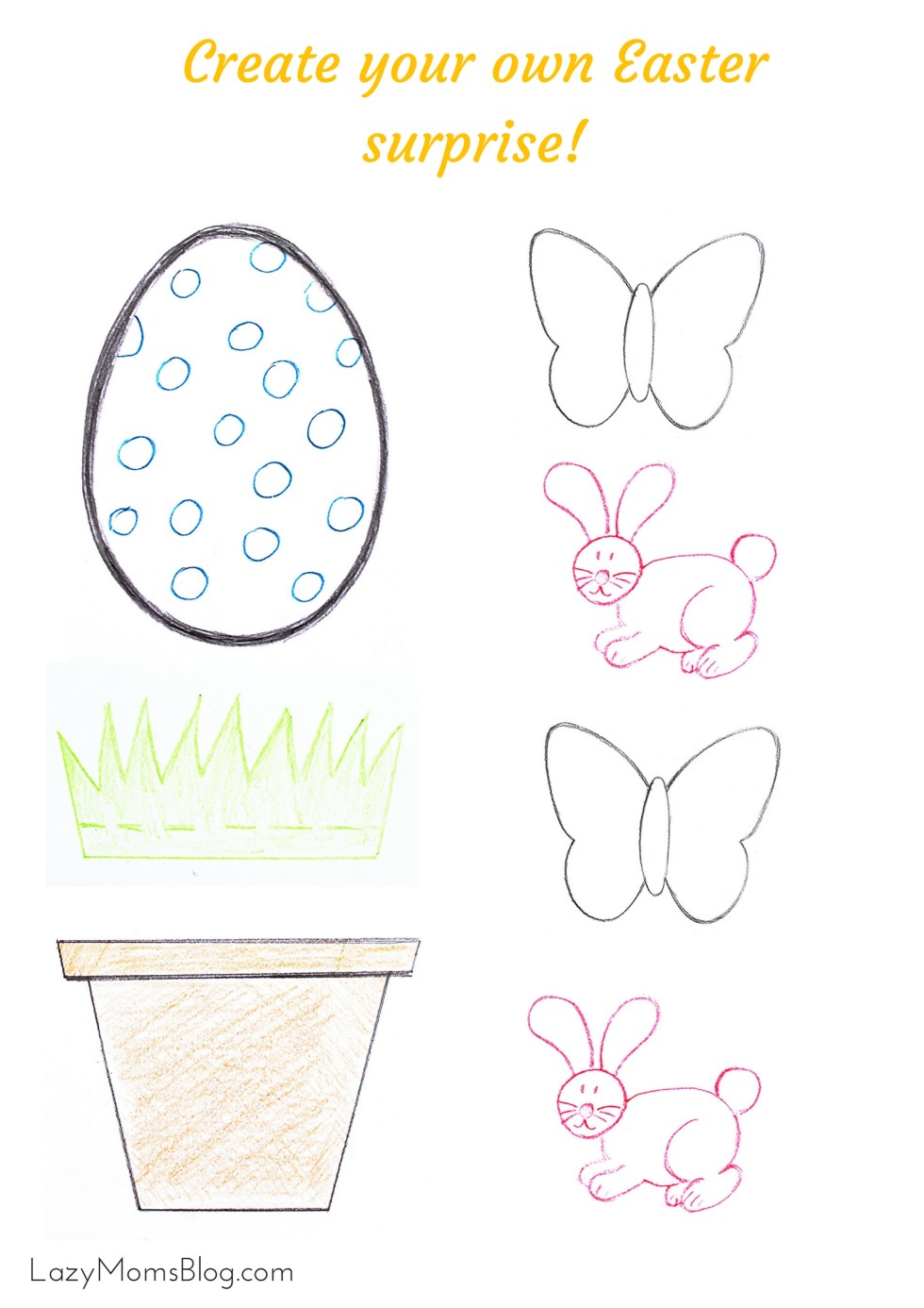 Printable Easter preschool activity