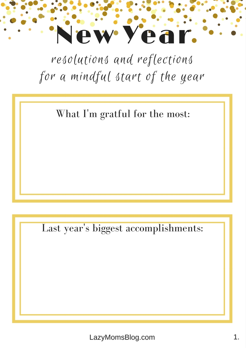 Resolutions and reflections for a mindful start of the year - Lazy ...