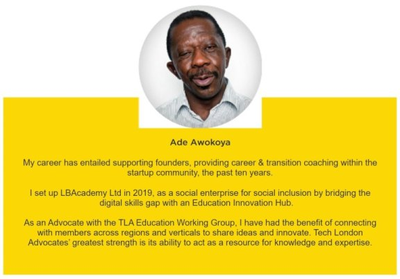 Ade Awokoya Life Coaching supports founders