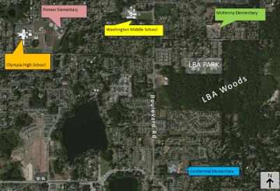 LBA Woods Proximity to Schools