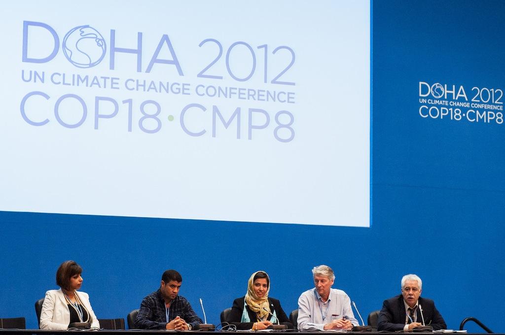 تشارك الجمعية في المؤتمرات الدولية البيئية وآخرها مؤتمر الاطراف الثامن عشر لاتفاقية الامم المتحدة حول تغير المناخ الذي عقد في الدوحة – قطر في تشرين الثاني