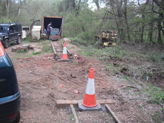 Gap in the track for forestry access