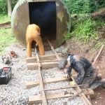 Tracklaying into the new shed