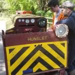 Hunslet 7446 running