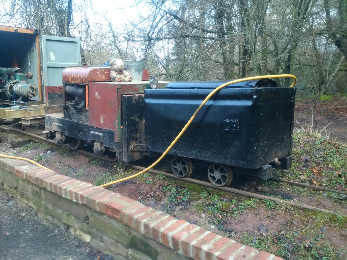 Wagon mounted compressor ready for action