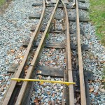 Track gauged ready for welding