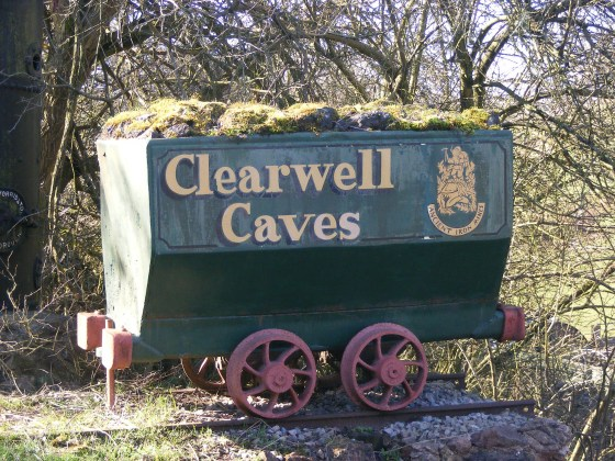 Mineral wagon on display at Clearwell Caves
