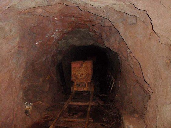 Skip wagon in the mine