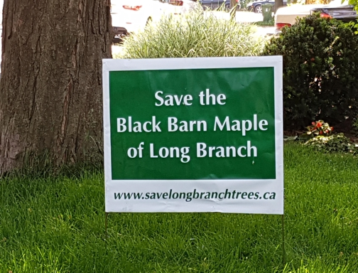 Save the Black Barn Maple Lawn Sign