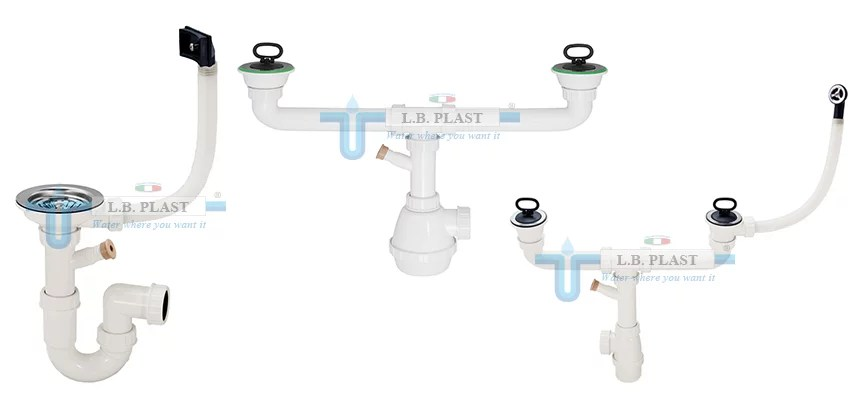 plumbing kit for kitchen sink drain l