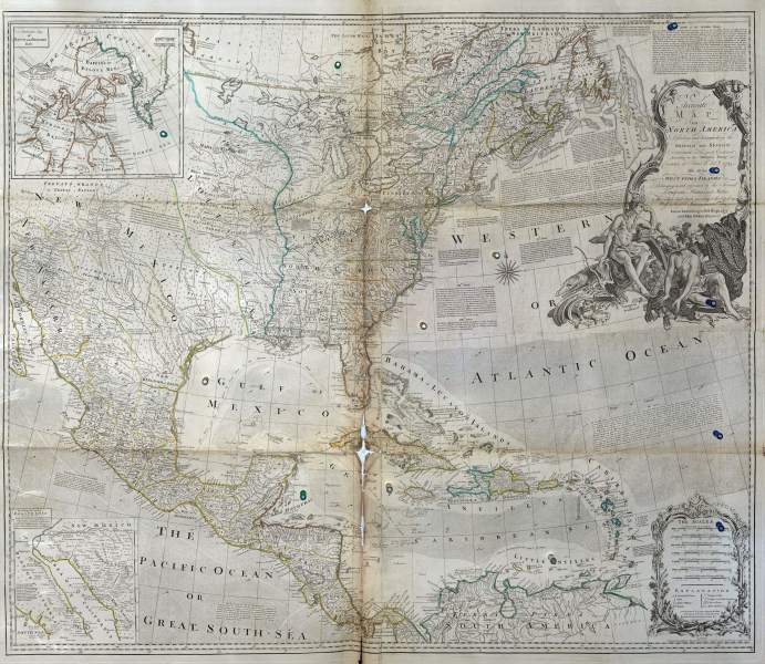 Worldwide Maps North America Fag 22     L Brown Collection F22 1 N America Bowen 1775