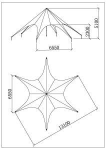 schéma star tente 13m