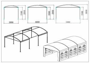 schéma chapiteaux dôme 3, 4, 5m