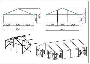 schéma chapiteaux de réception 9-10 mètres